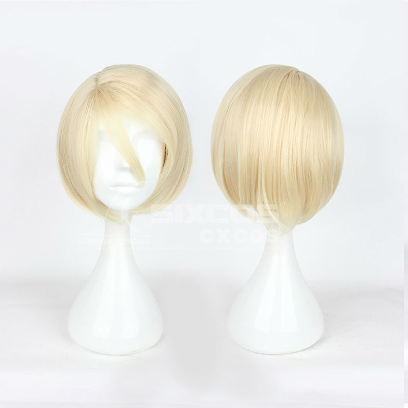 Full Lace 35cm Milky White Short Hair High Temperature Fiber YURI!!! on ICE-Yuri Plisetsky Synthetic Natural Cospaly Wigs<br><br>Aliexpress