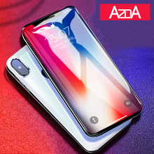 Tempered Glass Screen Protector Film Coque for iPhone X 8 4 4S 5 5S 5C SE 6 6S 7 Plus Phone Cases Fundas Luxury Shockproof(China)