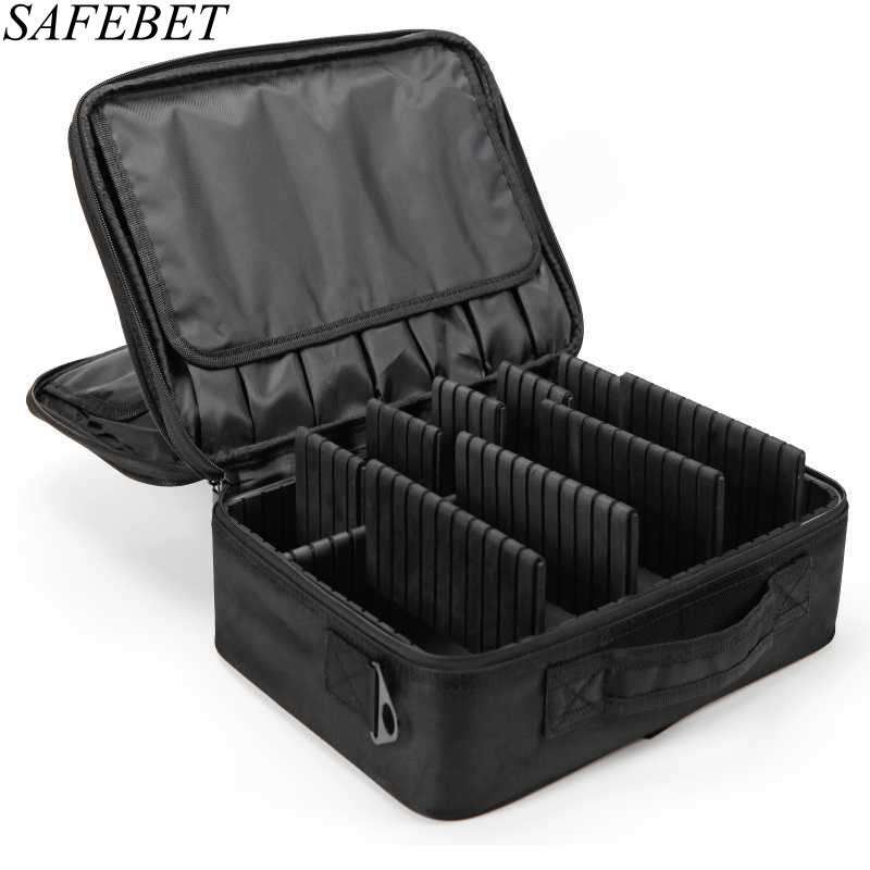 SAFEBET Brand Women Large Waterproof Multilayer Professional Makeup Bag Travel Organizer Tattoo Nail Art Tool Cosmetic Cases<br>
