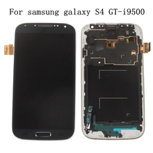 100% New LCD Display For samsung galaxy s4 gt-i9515 i9500 lcd display Touch Screen For I9505 with Digitizer assembly with frame(China)