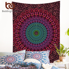 BeddingOutlet Indian Hippie Bohemia Tapestry Mandala Wall Tapestry 200cm Indian Polyester Bed Sheet Soft Wall Carpet 2017