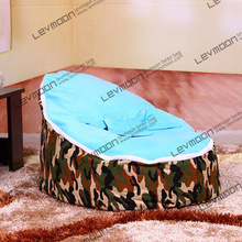 baby bean bag with 2pcs sky blue up covers baby seat cover baby bean bag chair baby bean bag bed FREE SHIPPING(China)