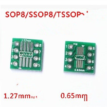 50pcs SMD to DIP Adapter Converter SOP8 SSOP8 TSSOP8 Adapter Board Module Adapters Plate  0.65mm 1.27mm