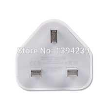 100pcs White Full 5V 1A UK Plug Wall Charger AC Adapter High Quality 1000MA USB Travel Adapter for iPhone 4 5 6 6s plus 7 7plus(China)