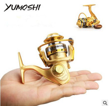 YUMOSHI BWM150 MINI Small fishing reels,12+1bb,5.5:1,carretilha pesca,abu garcia,fly fishing wheel spinning reel,Metal