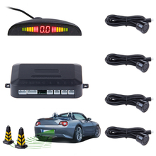 Car LED Parking Sensor With 4 Sensors DE Estacionamento Assist Reverse Backup Radar Monitor System Backlight Display Parktronic
