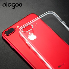 Oicgoo Ultra Thin Soft TPU Gel Original Transparent Case For iPhone 7 5 5S 6 6 7 Plus Cases Crystal Clear Silicon Phone Bags