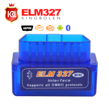 2017 Super MINI ELM327 Bluetooth V2.1 OBD2 Code Reader Work on Android Torque  Diagnostic Tool ELM 327 Support OBDII Protocols