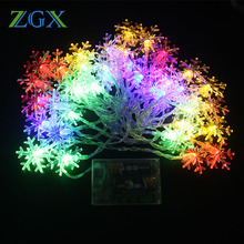 ZGX 3M 6M 10M 20leds 40leds 100leds LED String Fairy Light Christmas Tree Snow Lights Home Party Wedding Garden Garland Decorati(China)