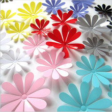 12pcs/Lot Creative 3D PVC Flowers Wall Stickers Acrylic Wall Decals For Kids Room Kitchen TV Wall Stickers Home Decor(China)
