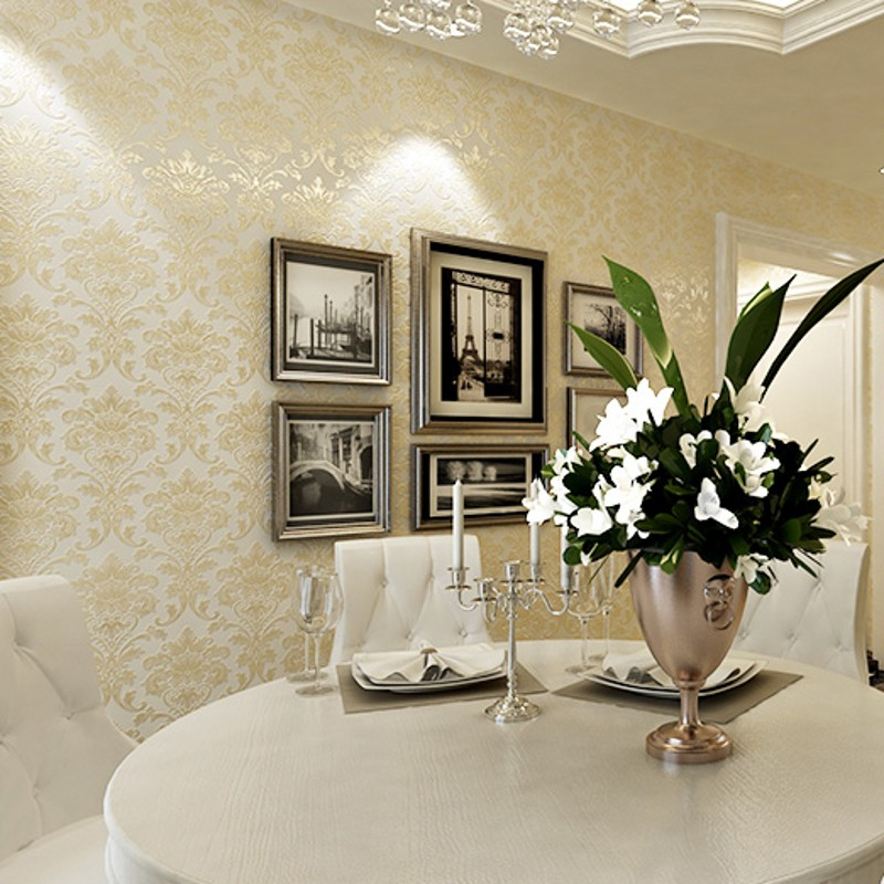 beibehang European non-woven wallpaper roll 3d flocking embossed textured bedroom home decor papel de parede 3d photo wall paper<br>