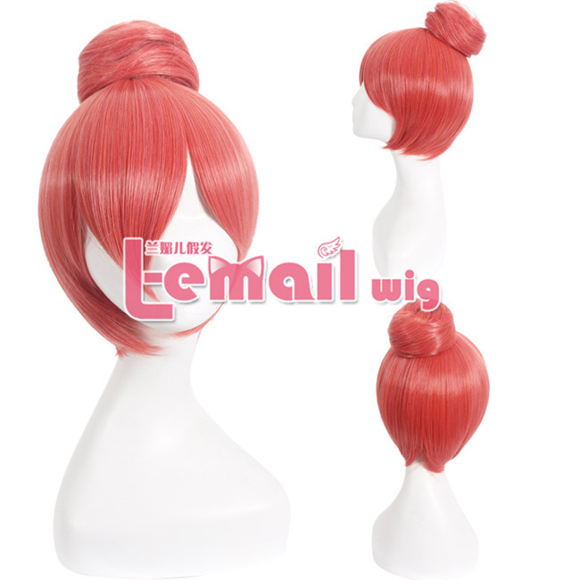 New Arrival Synthetic Short Pink Love Live Nishikino Maki Wig Ponytail Cosplay<br><br>Aliexpress