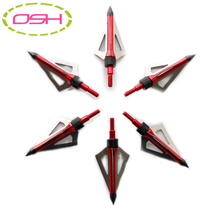 6pcs/lot Stainless Steel 3 Blade Broadheads Target Shooting Hunting Arrow Head Outdoor Arrowhead Crossbow Tips