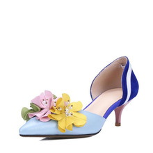In the spring of 2017 Hot sales new style leather shoes United States Europe the flowers are elegant delicate with the following(China)