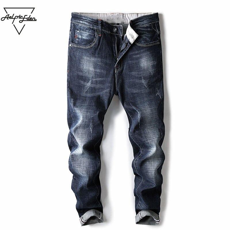 Aelfric Eden Mens Denim Jeans Business Cargo Pants Justin Bieber Casual Pants of Men Winter Jeans Denim Biker Clothing Yg090Îäåæäà è àêñåññóàðû<br><br>