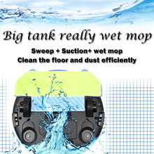 Free shipping WIFI Control Robot Vacuum Cleaner Wet And Dry Mop Washiping Cleaner With 280ml Water Tank 3000MAH lithium Battery
