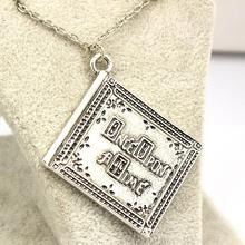 Free Shipping New Product High Quality 3D Henry Book Once Upon a Time Book Pendant Necklace Wholesale(China)