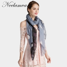 Neelamvar 2018 brand scarf women's Autumn and Winter shawl leopard print scarf polyester big size hijab from india ladies wraps(China)
