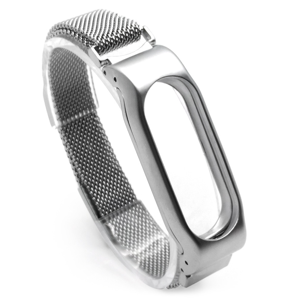 OTOKY 2017 Milanese Magnetic Loop Stainless Steel replacement wristbands Strap Bracelet Xiaomi Miband 2 Drop ship july3 P30