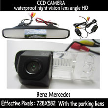 CCD Chip Car Rear View Reverse Parking CAMERA + rearview monitor for Benz C-Class W203 E-Class W211 CLS-Class 300 W219 R350 R500