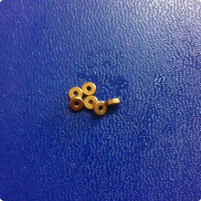 1.5*3.5*1.5mm Copper base powder metallurgical parts Powder Metallurgy oil bushing  porous bearing  Sintered copper sleeve