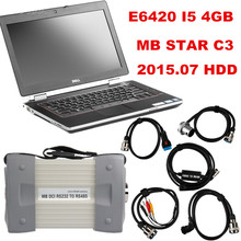 Latest 2015.07 Top Rated Mercedes Tester MB Star C3 full set with 4GB I5 E6420 Laptop installed well DAS +Xentry + WIS + EPC+Sd(China)