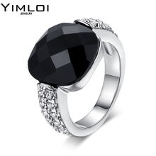 Classic Design Big Simulated CZ Stone Rings Fashion Wedding Band Jewelry for Men Women Lot Bijoux En Gros Bagues RB339