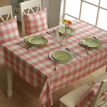 New design Pastoral stlye table cloth herocheer rectangular green Plaid tablecloths large family dinner cloth free shipping