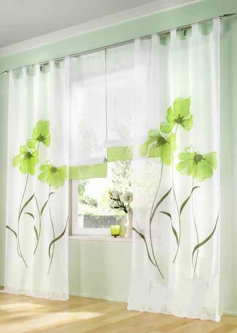 Single panel Fashion rustic window screening for the bedroom green/blue/orange/pink  flower Sheer Curtain Voile Window Curtains