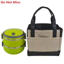 Do Not Miss Thermo Lunch Bags Cooler Insulated Lunch Bags Portable student Lunch box Food picnic bag Lunch box insulation bags