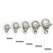 Pick Size 5 Stainless Steel Lobster Clasps For Jewelry making necklace Bracelet DIY Jewelry Findings 10PCs