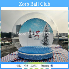 Free Shipping 4m Cheap Inflatable Snowing Globe/Inflatable Cheap Christmas Snow Globe for Display
