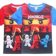 4-10y 2018 Kids Boys T-shirt Ninja Ninjago T Shirts Children Clothing Cotton Top Tees Boys Girls Kids Costume Boys Clothes