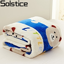 Solstlce Brand Bedding Bear Pattern Ferret Cashmere Adult Spring Summer Thick Warm Super Soft Coral Fleece Blanket On The Bed