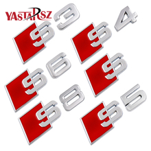 3D Tail Sticker S3 S4 S5 S6 S8 S Line Car Emblem Badge Logo Rear Tail Badge Sticker Logo for Audi A3 A4 A4L A5 A6 A6L Q3 Q5 Q7
