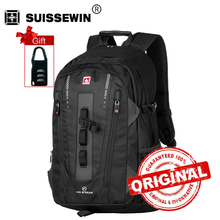 Swisswin travel laptop backpack for 15.6 inch notebook business bag brand swiss multi-use waterproof backpack case brand swe9972