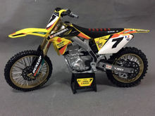 James Stewart Yoshimura RMZ450 1:12 Die-Cast Motocross Mx Toy Model Bike New Ray(China)