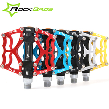 "RockBros MTB BMX DH Bike Bicycle Ultralight  Pedals Aluminum Body Axle 9/16"" Cr Mo Spindle Cycling Sealed Bearing Pedal 3 Style"