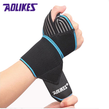 AOLIKES 2 Pcs/lot Sports Wrist Bands Wrist Support Strap Wraps Hand Sprain Recovery Wristband For Cycling Tennis Gym Accessories