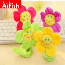 Multi-color Smiley Sun Flowers Curtain Soft Buckle Flannelet Cartoon Kid's Room Curtain Bandage Home Decoration Tieback CP003(China)