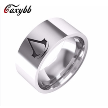 2016 latest styles Assassins Creed Ring Stainless Steel Band For Men Size