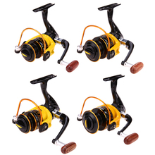 New 1 Spare Aluminum Spool Carp Spinning Fishing Reels Left/Right Handle Stainless Steel Shaft Rear Drag Wheel FishTackle Tools(China)