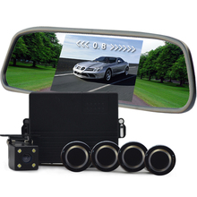 4.3 inch Monitor Car Parking Sensor Reverse Backup Assistance Car HD Visual Reversing Radar all-in-one System(China)