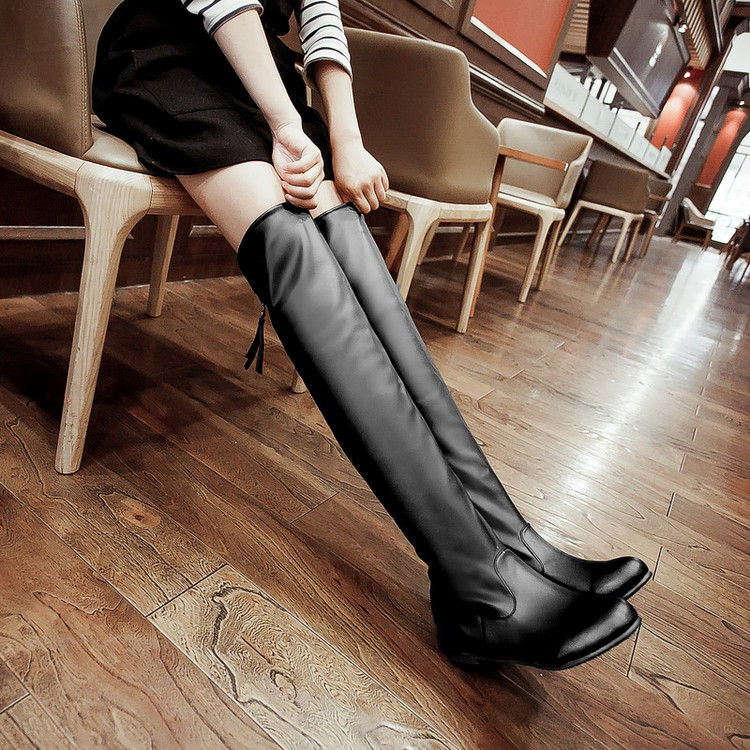 Big Size 34-43 Over the Knee Boots for Women Sexy High Heels Long boots Winter Shoes Round Toe Platform Knight Boots  406<br><br>Aliexpress