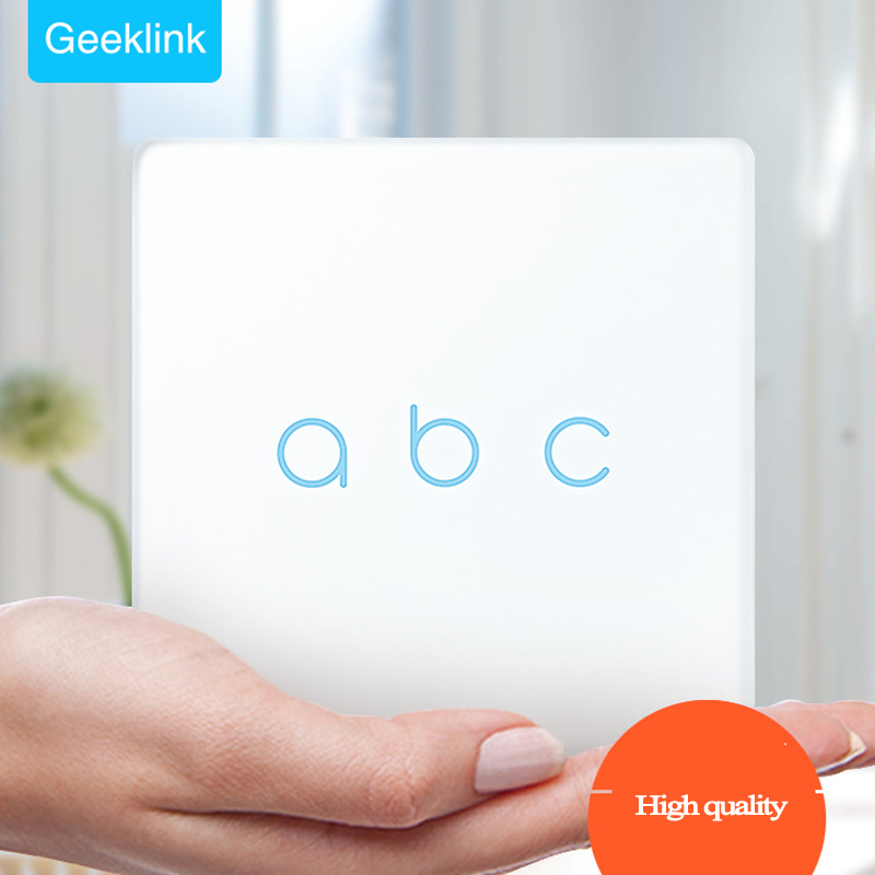 Geeklink Uk Type 3 Gang Feedback Switch,Mobile Remote Control Light lamps Wall Switch via Geeklink Thinker, Smart Home Domotica<br>