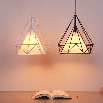 Hot modern black birdcage pendant lights iron minimalist retro light Scandinavian loft pyramid lamp metal cage with led bulb<br>