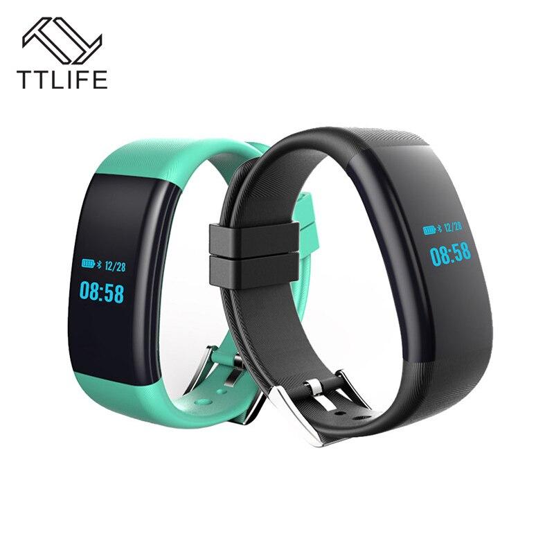 TTLIFE New DF30 Smart Bracelet Bluetooth 4.0 Heart Rate Monitor Blood Pressure/Oxygen Monitor Wristband IP68 Waterproof Watch<br>