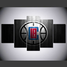 DAFENJINGMO ARTS 5 panel los angeles clippers logo hd Art print canvas art wall framed paintings for living room wall picture(China)