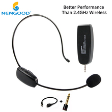 NEWGOOD Wireless Microphone MIC For Computer Wireless Microphone Professional UHF Wireless Headset Microphones(China)
