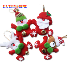 New Year Gifts Santa Claus Snowman with Jingle Bell Dolls Pendants Christmas Tree Decorations Indoor Ornaments Home Decor SD289